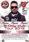 5.10.2013 Pepino B-Day club Tour - Letisko club, Giraltovce